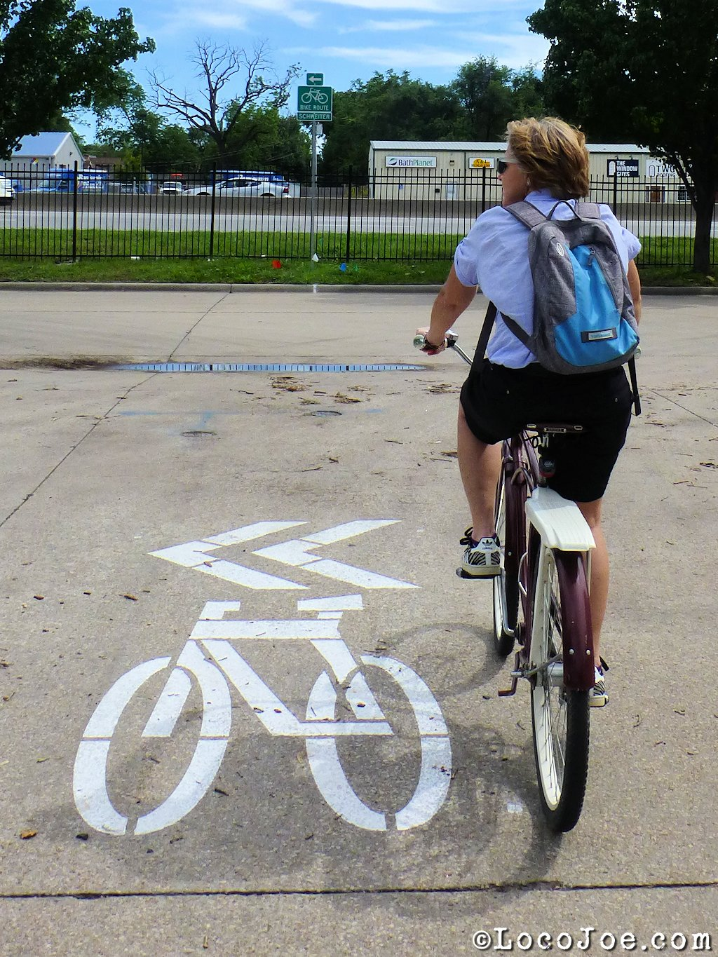 Wichita's Schweiter Bicycle Boulevard.
