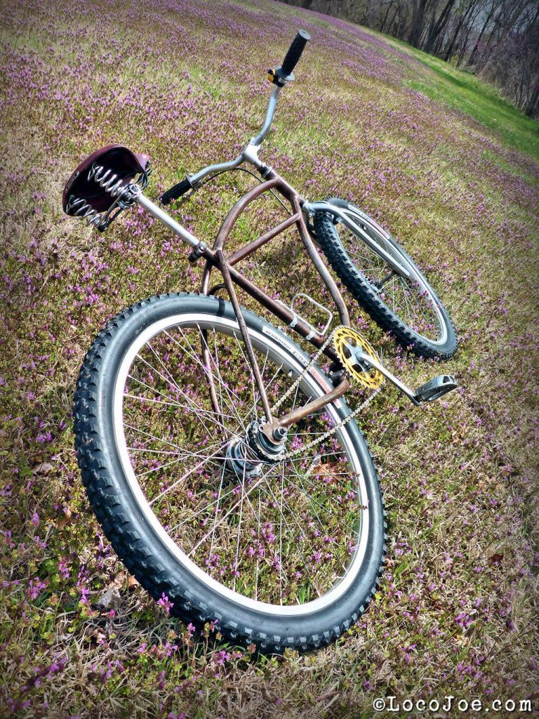As a last resort you can photograph the bike on the ground. Try to make sure the front fork/wheel is straight which may require placing something under the wheel to prop it up.