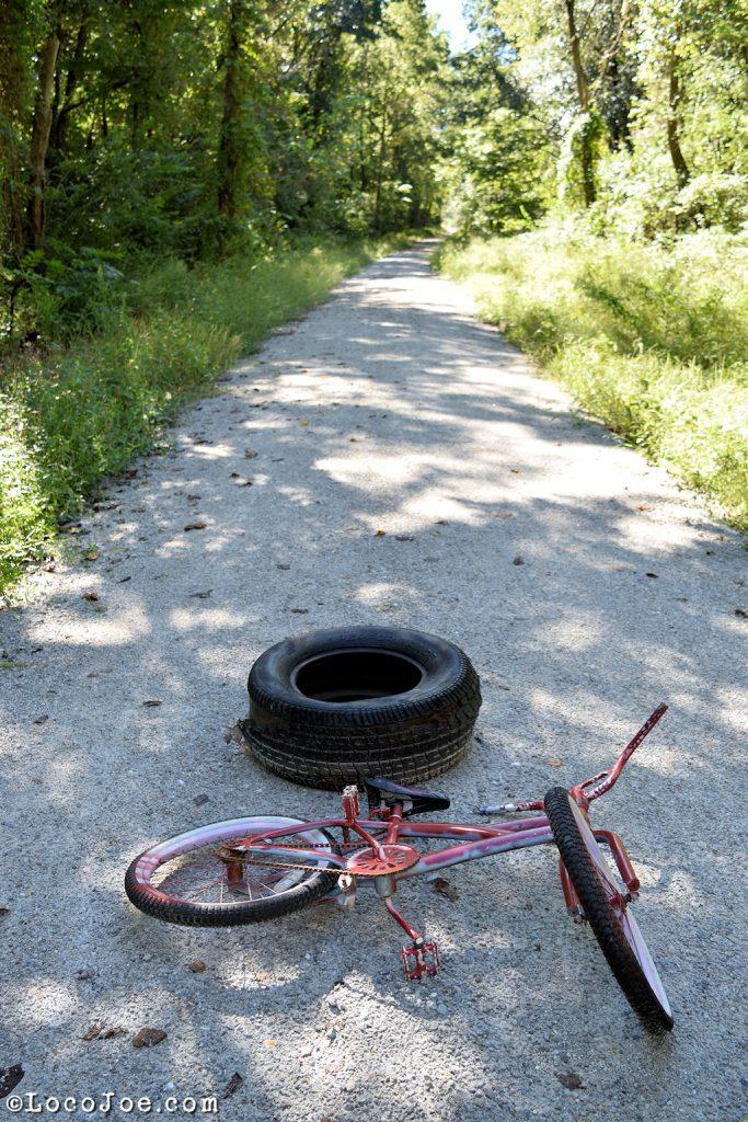 Abandoned bike on the Rock Island.