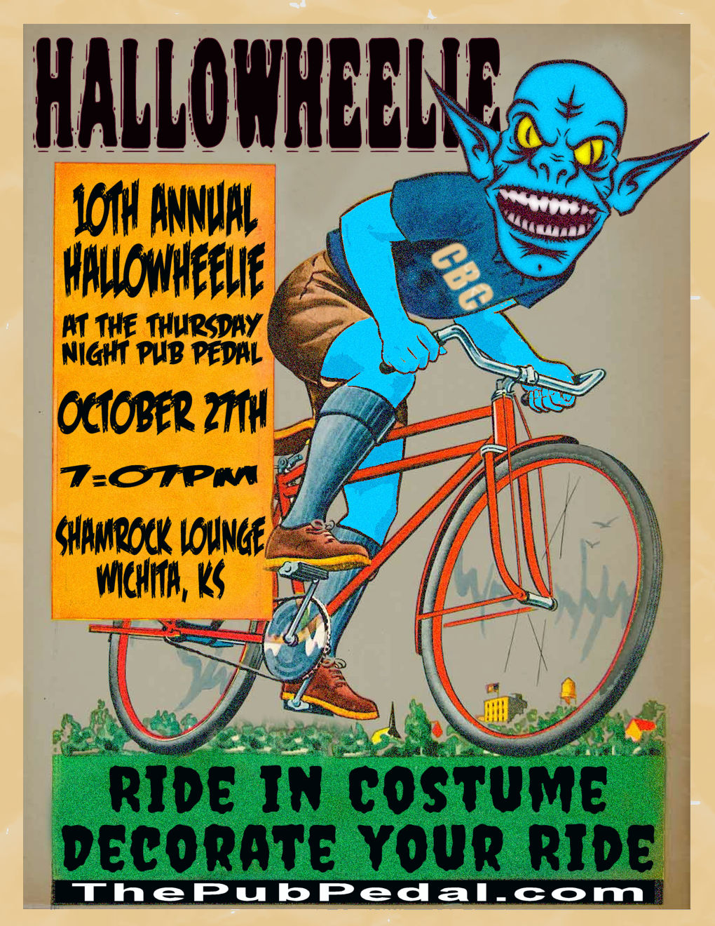 Hallowheelie @ Shamrock Lounge | Wichita | Kansas | United States