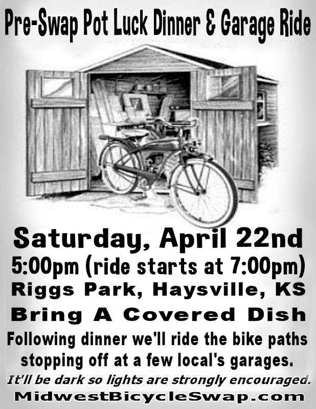 Pre-Swap Potluck Dinner and Garage Ride @ Riggs Park, Haysville, KS | Haysville | Kansas | United States