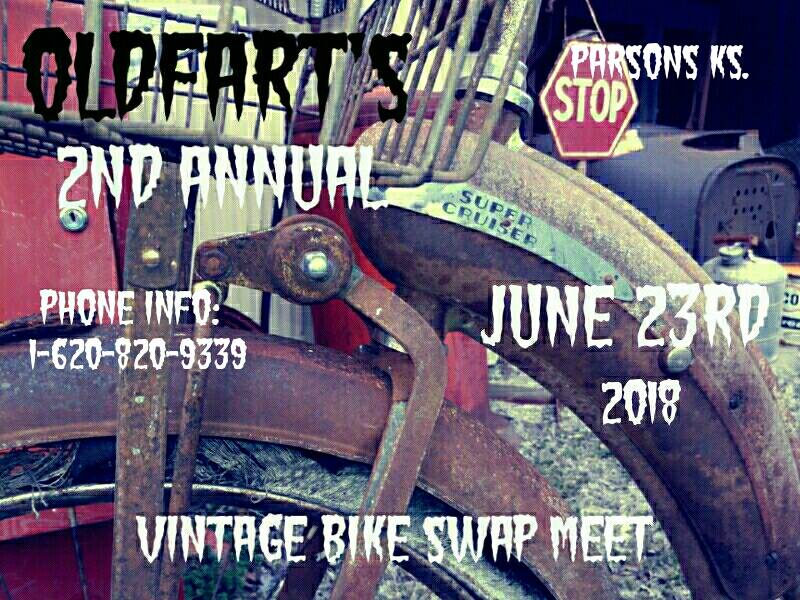 OldFart's Vintage Bike Swap Meet @ Parsons | Kansas | United States