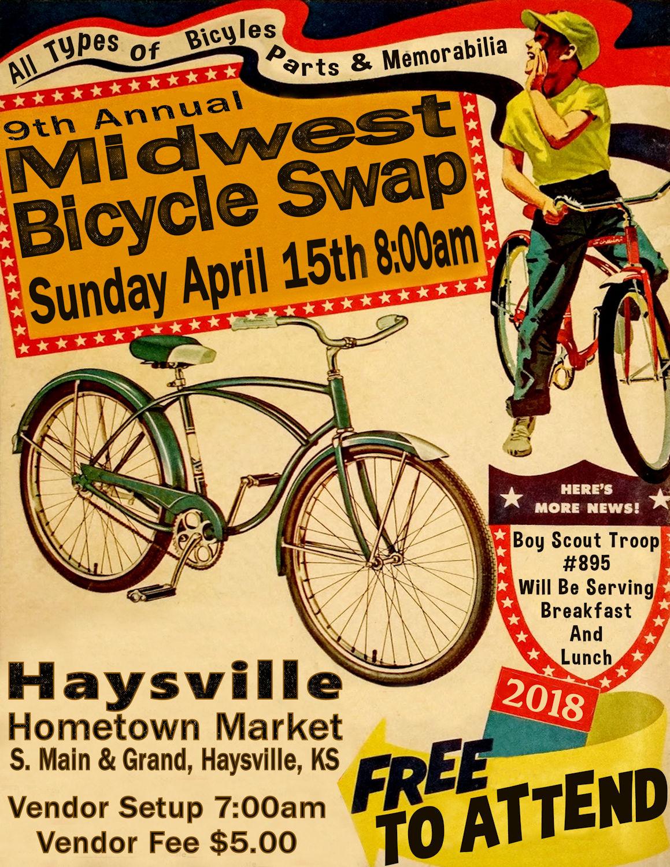 9th Annual Midwest Bicycle Swap @ Haysville Hometown Market | Haysville | Kansas | United States